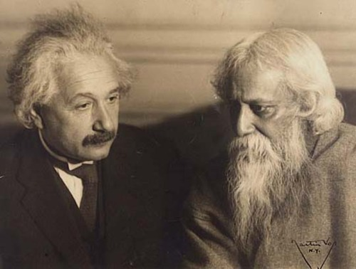 Rabindranath Tagore and Albert Einstein met
