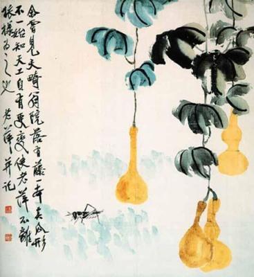 中国现代绘画大师展参展 齐白石作品