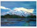 白晋油画作品欣赏 雪域